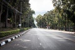 路线风景在2017年12月3日的清迈泰国 库存照片