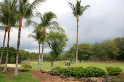 路线高尔夫球南夏威夷毛伊的部分 图库摄影