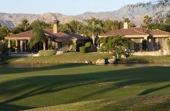 路线高尔夫球回家棕榈泉 免版税图库摄影