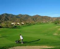 路线高尔夫球场地管理员 免版税库存照片