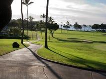 路线高尔夫球夏威夷 库存图片