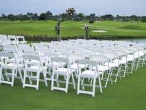 路线高尔夫球婚礼 库存图片
