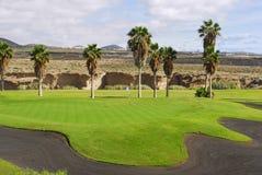 路线高尔夫球山景 图库摄影