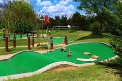 路线高尔夫球微型使用 库存照片