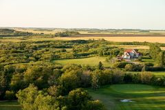 路线高尔夫球房子 库存照片