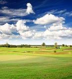 路线高尔夫球手段 免版税库存图片