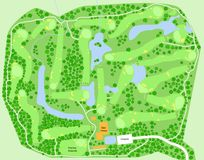 路线高尔夫球映射 皇族释放例证