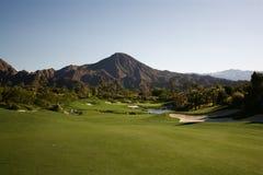 路线高尔夫球棕榈泉 库存图片