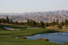 路线高尔夫球棕榈泉 图库摄影