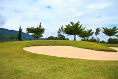 路线高尔夫球泰国 库存照片