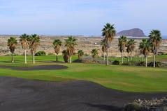 路线高尔夫球海岛视图 库存图片