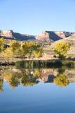 路线高尔夫球湖mesa redlands影子 免版税库存图片