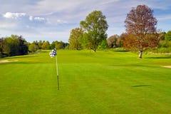 路线高尔夫球田园诗爱尔兰语 免版税库存照片