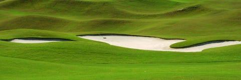路线高尔夫球砂槽 免版税图库摄影