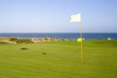 路线高尔夫球绿色 图库摄影