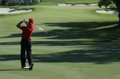 路线高尔夫球西班牙巴尔德拉马 库存照片