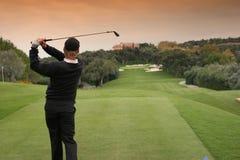 路线高尔夫球西班牙巴尔德拉马 免版税图库摄影