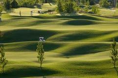 路线高尔夫球视图 免版税图库摄影