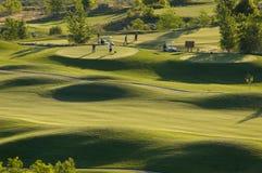 路线高尔夫球视图 免版税库存图片