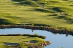 路线高尔夫球视图 库存照片
