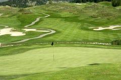 路线高尔夫球 免版税图库摄影