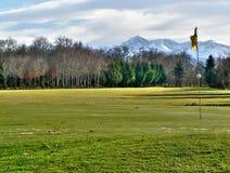 路线高尔夫球 免版税库存照片