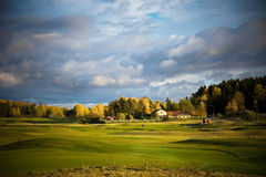 路线高尔夫球 库存照片