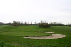 路线高尔夫球 库存图片