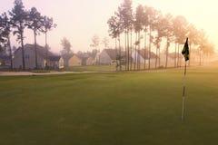 路线黎明高尔夫球家 库存照片