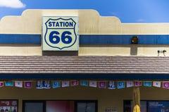 路线66加油站在内华达 图库摄影