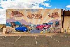 路线66壁画在金曼亚利桑那美国 免版税库存图片