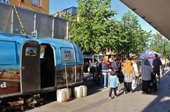 路线66晚餐在国际街市上 免版税库存照片