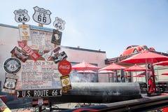 路线66牛排餐厅 免版税库存照片