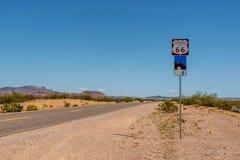 路线66签到亚利桑那 库存图片