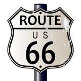 路线66高速公路标志 免版税库存图片