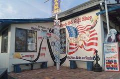路线66,塞利格曼,亚利桑那的看法 库存图片