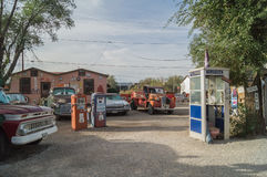 路线66,塞利格曼,美国的装饰 库存照片