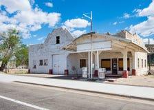 路线66 :Osterman加油站,桃子春天, AZ 库存图片