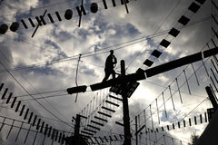 绳索路线 免版税库存照片
