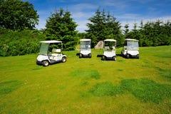路线eco四个高尔夫球运输者 库存照片