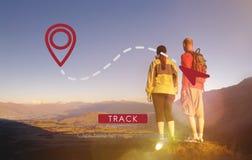 路线GPS地点方向位置运输概念 免版税图库摄影