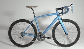 路自行车侧视图 3d例证 库存照片