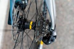 路自行车后轮插孔 免版税图库摄影