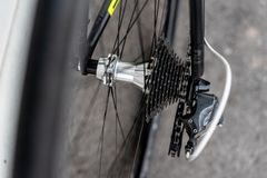 路自行车后轮插孔 库存图片