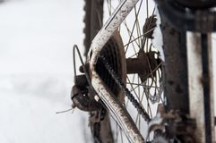 路自行车电动子 库存图片