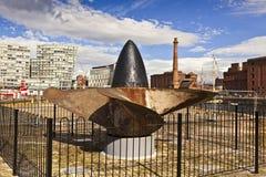路西塔尼亚纪念品在利物浦 库存照片