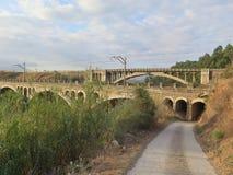 路轨和路桥梁 库存照片