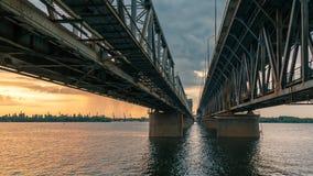 路轨桁架桥 库存照片