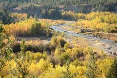 路轨桥梁, Coldwater峡谷,梅里特, BC 免版税图库摄影