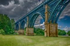 路轨桥梁 库存照片